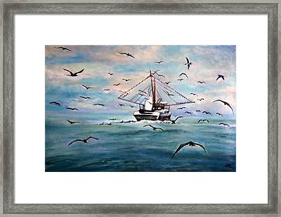 Shrimp Boat Costa Rica Framed Print