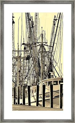 Shrimp Boat Framed Print by Debra Forand
