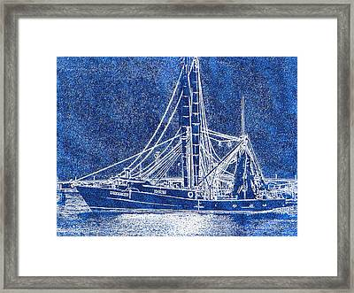 Shrimp Boat - Dock - Coastal Dreaming Framed Print