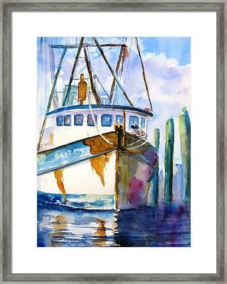 Shrimp Boat Isra Framed Print