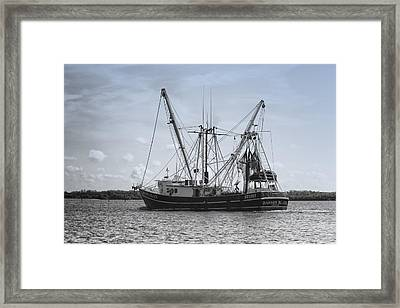 Shrimp Boat - Matanzas Pass Framed Print by Kim Hojnacki