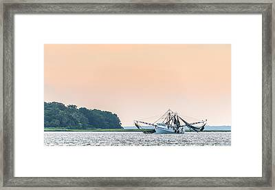 Shrimp Boat On The Edisto River - Fishing Boat Photograph Framed Print by Duane Miller