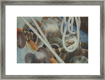 Shrimp Boat - Out Of Service Framed Print