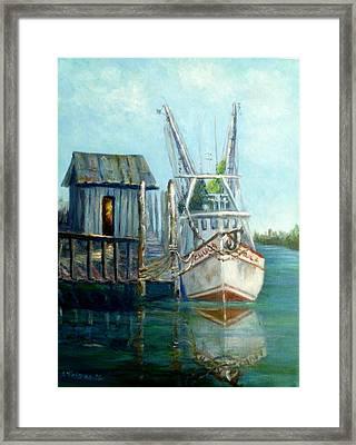 Shrimp Boat Paintings Framed Print