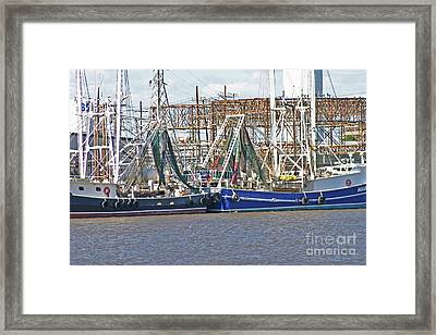 Shrimp Boats 1 Port Arthur Texas Framed Print