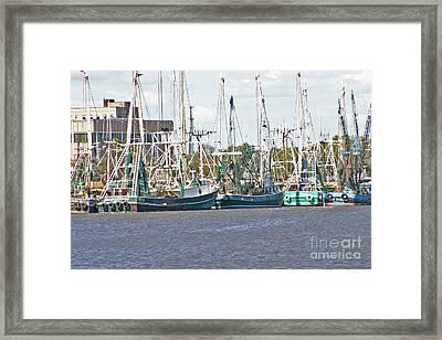 Shrimp Boats 3 Port Arthur Texas Framed Print by D Wallace