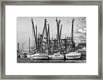 Shrimp Boats Framed Print by Robert  FERD Frank