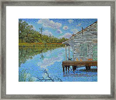 Shrimp Shack Framed Print