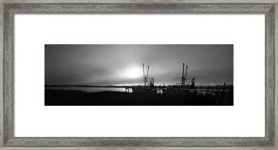 Shrimp Trawlers Framed Print