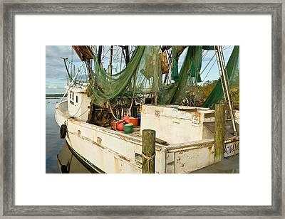 Shrimper Framed Print by Denis Lemay
