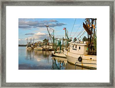 Shrimpers Cove Framed Print
