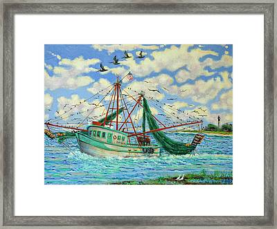 Shrimpin Framed Print by Dwain Ray