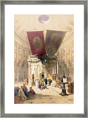 Shrine Of The Holy Sepulchre, April Framed Print by David Roberts