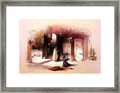 Shrine Of The Nativity Bethlehem April 6th 1839 Framed Print by Munir Alawi