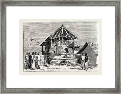 Shrine Of The Sacred Footprint, On The Summit Framed Print by Sri Lankan School