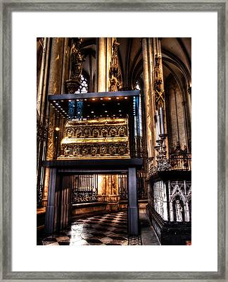 Framed Print featuring the photograph Shrine Of The Three Kings by Jim Hill