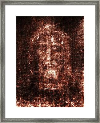 Shroud Of Turin Framed Print by Christian Art