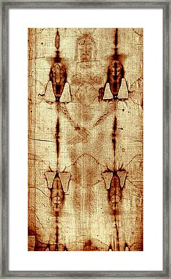 Framed Print featuring the digital art Shroud Of Turin by A Samuel