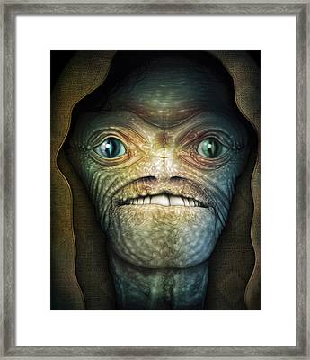 Shrouded Alien Framed Print