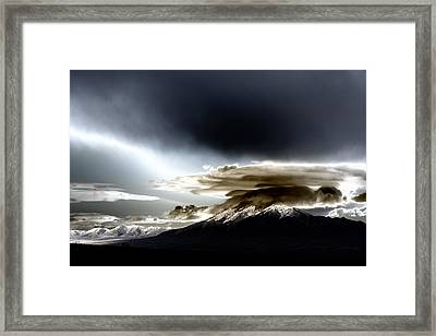 Shrouded Oquirrh Framed Print