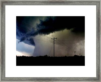 Framed Print featuring the photograph Shrouded Tornado by Ed Sweeney