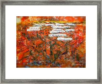 Shrouds Of The Innocent Over Damascus Framed Print by Thomas Dudas
