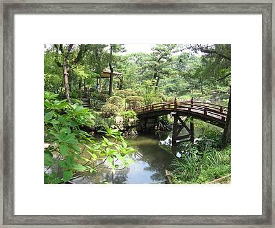 Shukkeien Bridge Framed Print