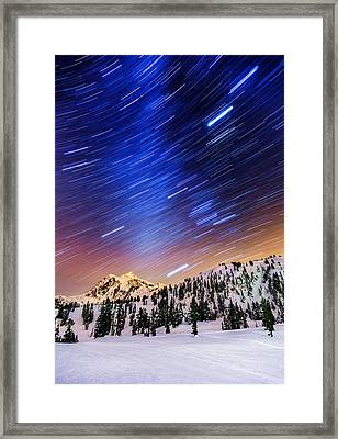 Shuksan Star Trails Framed Print