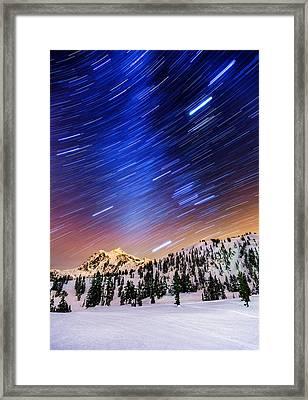 Shuksan Star Trails Framed Print by Alexis Birkill