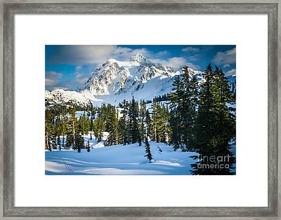 Shuksan Winter Paradise Framed Print