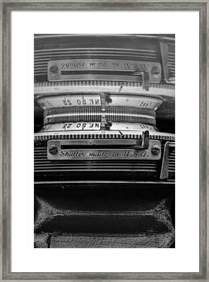 Shutter Usa Framed Print