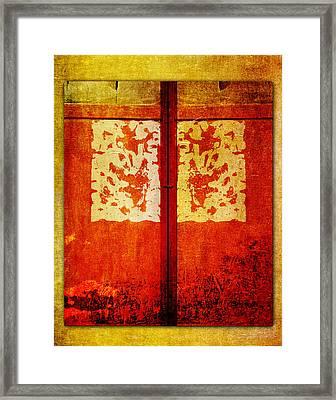 Shuttered Framed Print