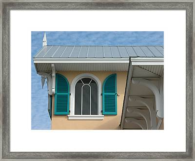 Shuttered Window Framed Print by Valerie Paterson