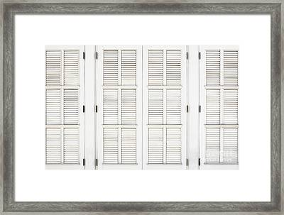 Framed Print featuring the photograph Shutters In Ponce by Bryan Mullennix