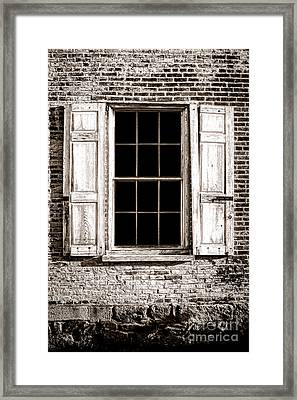 Shutters Framed Print by Olivier Le Queinec