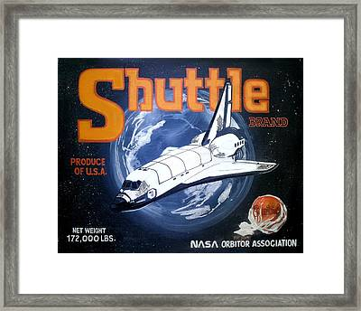 Shuttle Brand Framed Print by Ric Rice