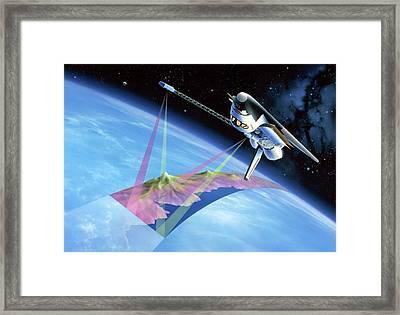 Shuttle Radar Topography Mission Framed Print