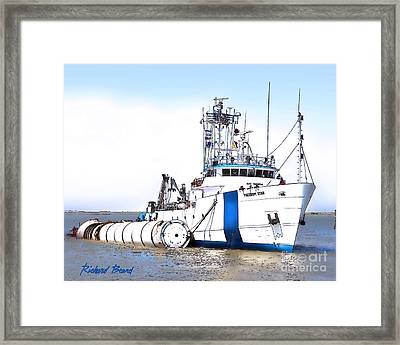 Shuttle Solid Rocket Recovery Team Framed Print