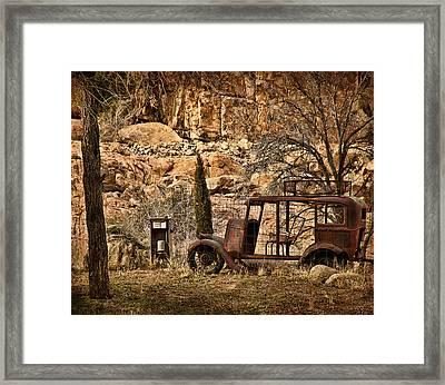 Shuttle Transport Framed Print by Priscilla Burgers