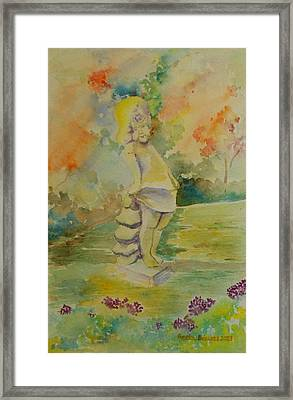 Shy Garden Angel Framed Print