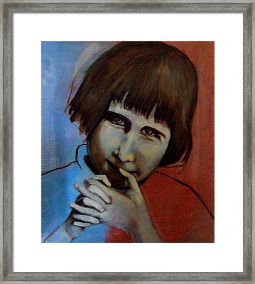 Framed Print featuring the painting Shy by Irena Mohr