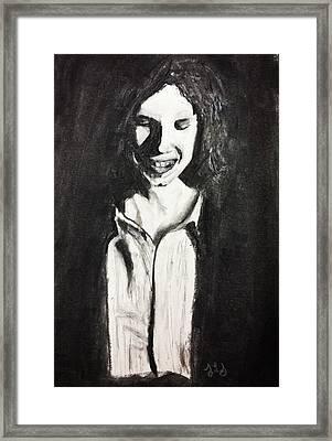Shy Framed Print by Jessica Sanders