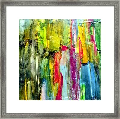 Framed Print featuring the painting Shy by Katie Black