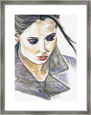Shy Lady Framed Print