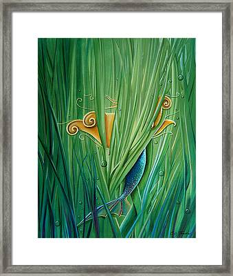 Shy Little Siren Framed Print by Cindy Thornton