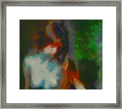 Shy Model Framed Print