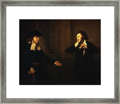 Shylock And Tubal From The Merchant Of Venice Thou Stickst Framed Print
