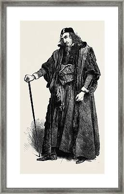 Shylock Speaking Of Antonio How Like A Fawning Publican Framed Print