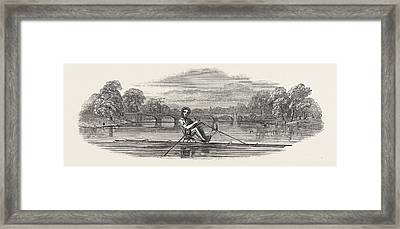 Siamese Boat On The Serpentine Framed Print by English School