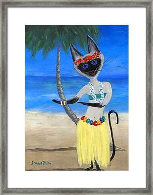Siamese Queen Of Hawaii Framed Print by Jamie Frier
